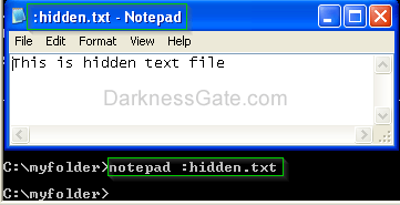 Figure 9: Open hidden ADS file attached to a folder