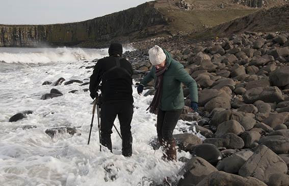 Dunstanburgh Castle Beach Waves