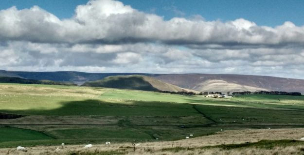 Mam Tor and Rushup Edge from near peak Forest