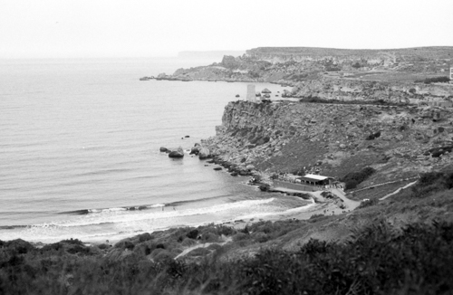 Golden Bay, North Malta, Ilford Delta 100, Darkroom Malta, Developing, 35mm Film, Alan Falzon,Pentax