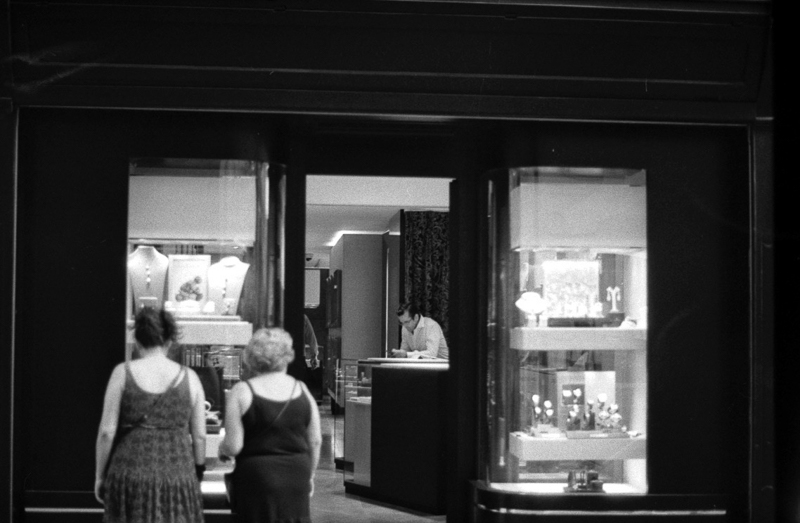 Jewelry shop, Pushed, asa400,asa1600,35mm film, 120 film, black and white,Valletta, Darkroom Malta
