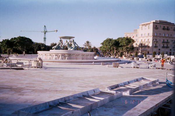 Valletta, Expired Timee, 35mm Film, Agfa Vista, Analog, Valletta 18, 6-12-2017. Triton Fountain Area, Valletta