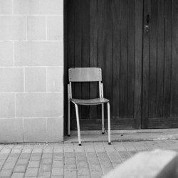 Chair, Ilford HP5, Darkroom Malta, Valletta, 35mm Film, Black and White