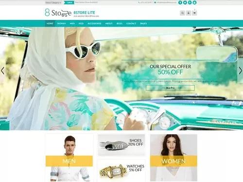 EightStore Lite WordPress Theme Free Download