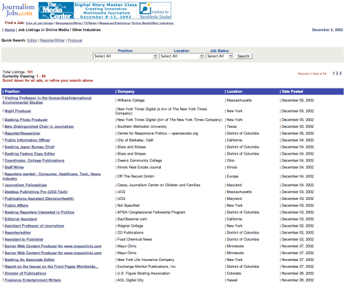 JournalismJobs.com circa 2002