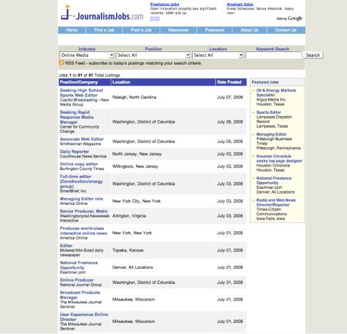 JournalismJobs.com circa 2008