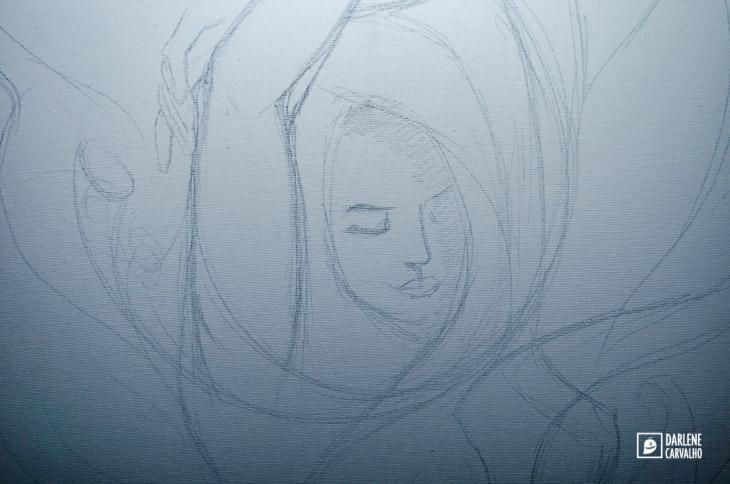 arte em tela florescer darlene carvalho 50x70 cm