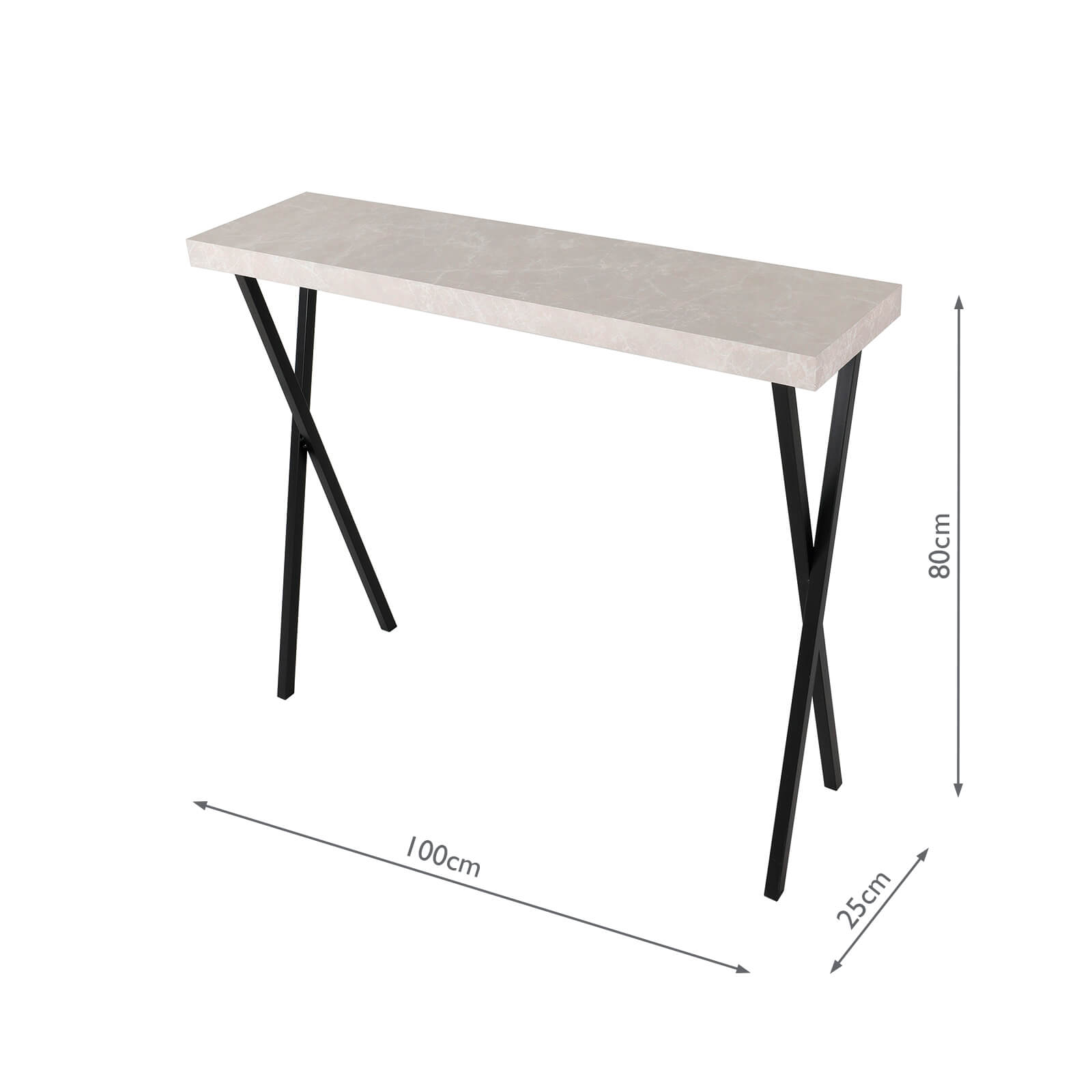 data console table light grey marble