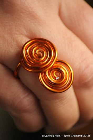 Bague double spirale simple prix 4€