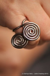 Bague marron double spirale simple prix 4€