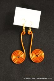 Boucles d'oreilles spirale la paire 4€