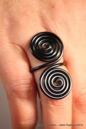 Bague double spirales prix : 4€