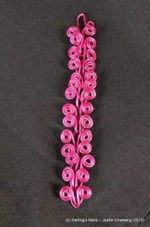Bracelet en maillons spirales prix : 17€