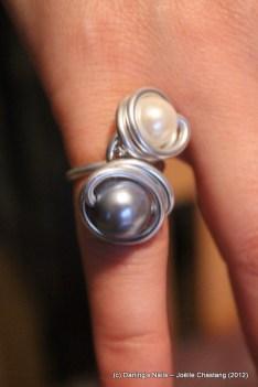 Bague 2 perles prix : 7€