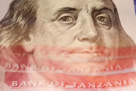 Dar es Salaam, Tanzania - 2014-12-12 USD and TZS in Dar es Salaam, Tanzania, on December 12, 2014. Photo by Daniel Hayduk