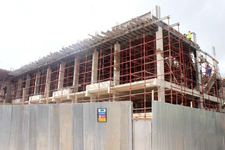Construction of a new private clinic is underway at CCBRT. Photo: CCBRT