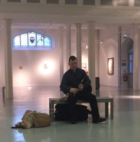 Darragh in the Highlanes Gallery in Drogheda