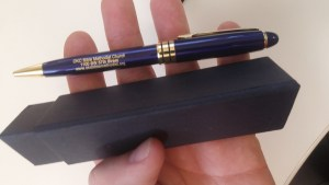 Our 2nd week gift pen from discountmugs.com
