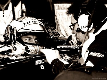 Jenson Button talks with his race engineer Andrew Shovlin