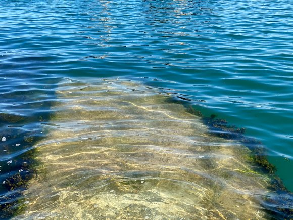 Stone steps in the sea