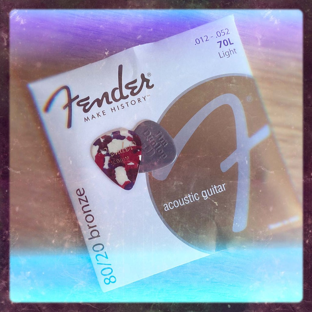 new fender guitar stings and a couple of guitar picks
