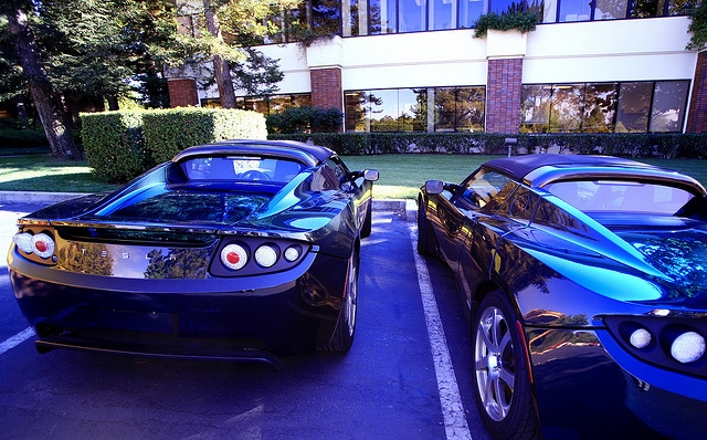 """""""Two Teslas in the Wild"""" by jurvetson on Flickr"""
