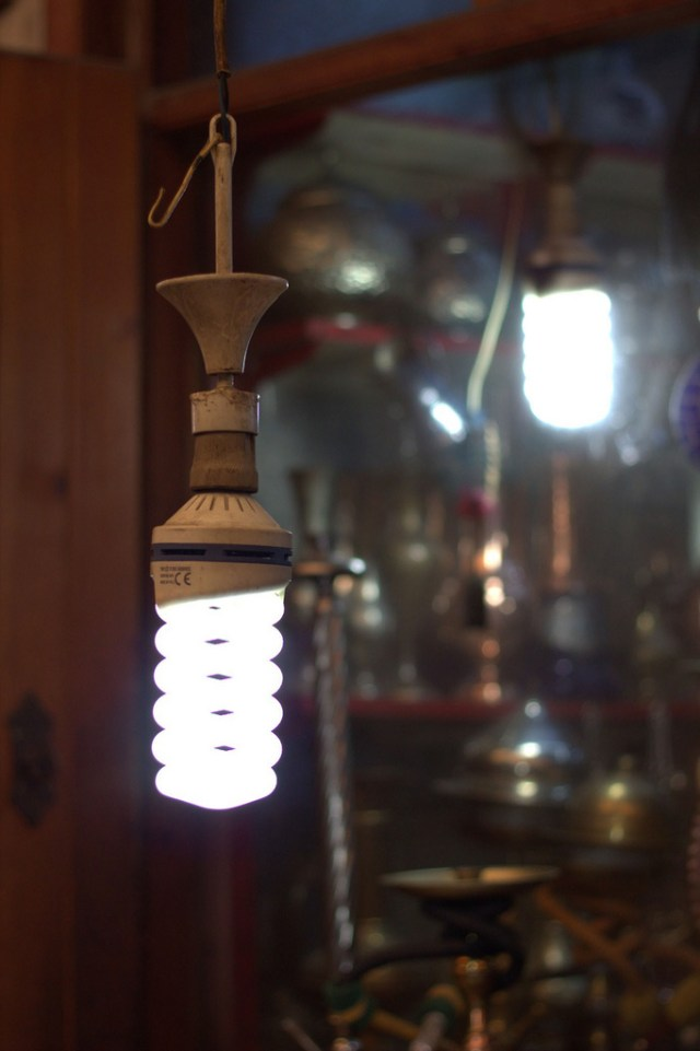 """An energy efficient bulb in a shop in Gaziantep, Turkey"" by World Bank Photo Collection on Flickr"