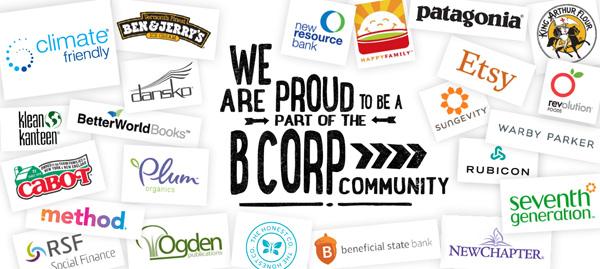 B Corp Community graphic from the Climate Friendly website