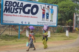 """Ebola must go"" by UNMEER on Flickr"
