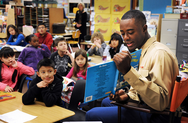 """""""Marines, kids and books: Oh My!"""" by Presidio of Monterey on Flickr"""