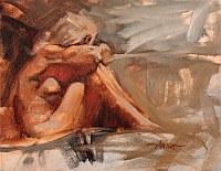 Sofa Nude, Alla Prima