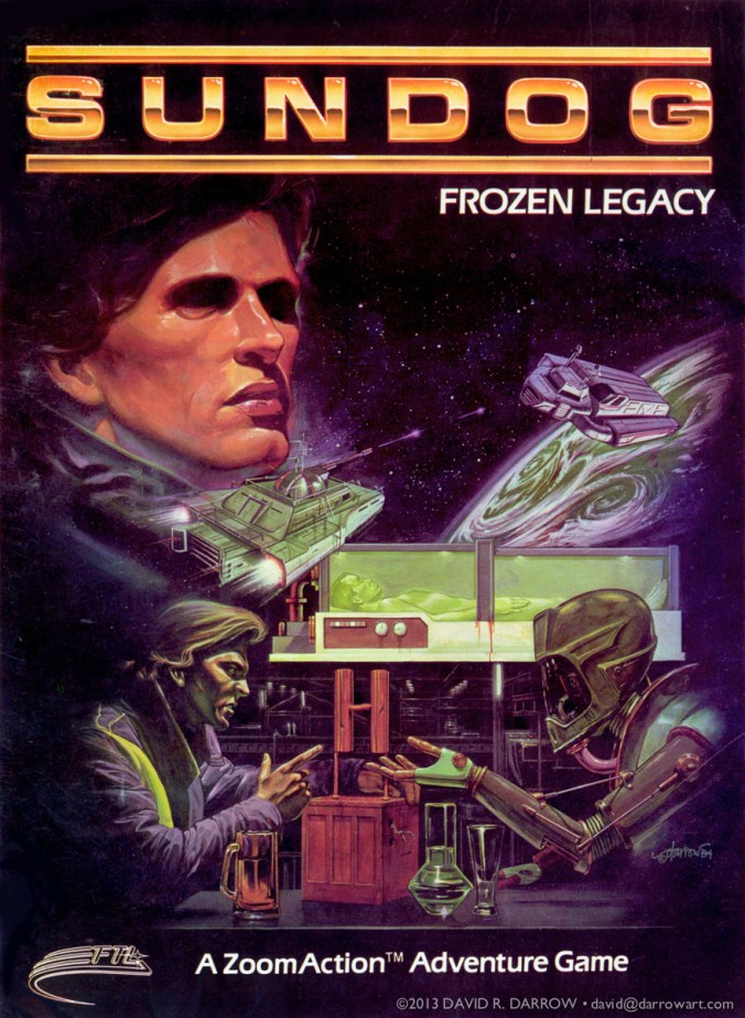 "FTL Games ""Sundog"" cover art by David R. Darrow"