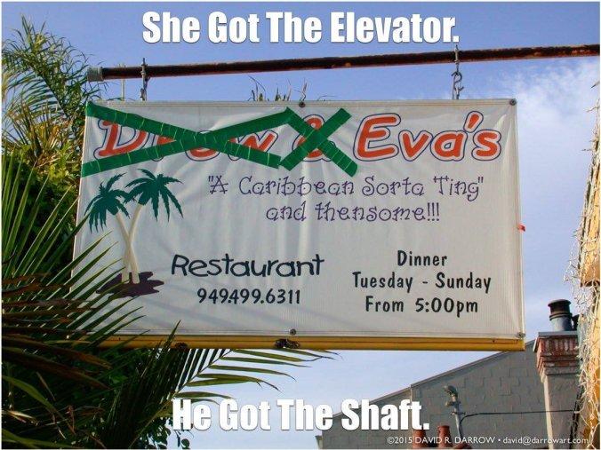 Eva's Caribbean Restaurant, November 2002 Sign