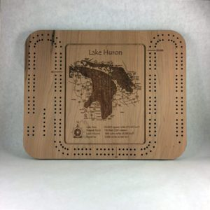 Lake Huron Cribbage Board