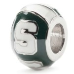 green white MSU bead Michigan State