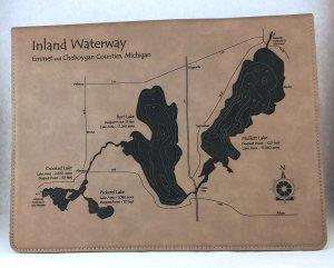 inland waterway leatherette notebook
