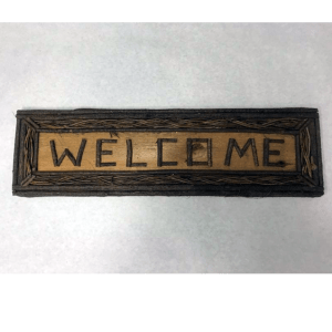 rustic twig welcome sign