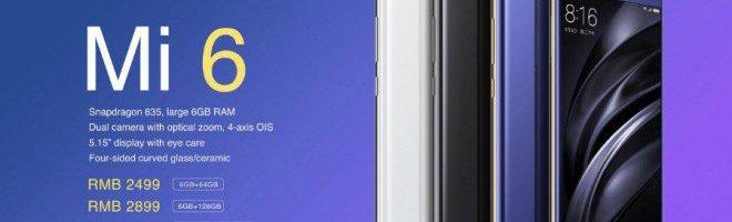 Xiaomi Mi 6 presentato ufficialmente: caratteristiche, disponibilità e prezzo