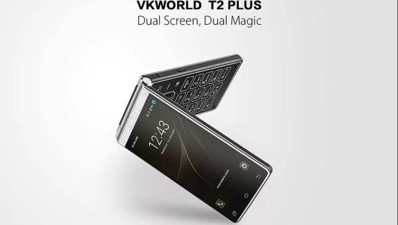 VKworld T2 Plus è uno smartphone, ma anche un telefono a conchiglia