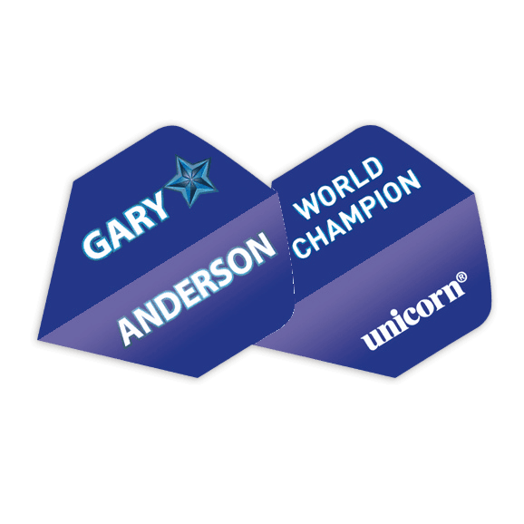 Unicorn Authentic 100 Big Wing Dart Flights - Blue Star Gary Anderson