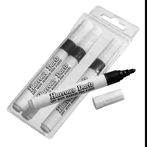 Harrows Spare Dry Wipe Pens Packet of 4