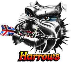 Harrows Bomber 21g 85% Tungsten Steel Tip Darts