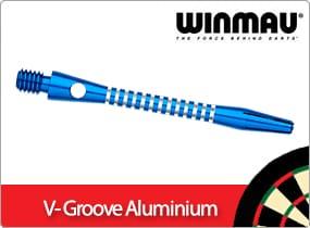 Winmau V Groove Aluminium Dart Stems