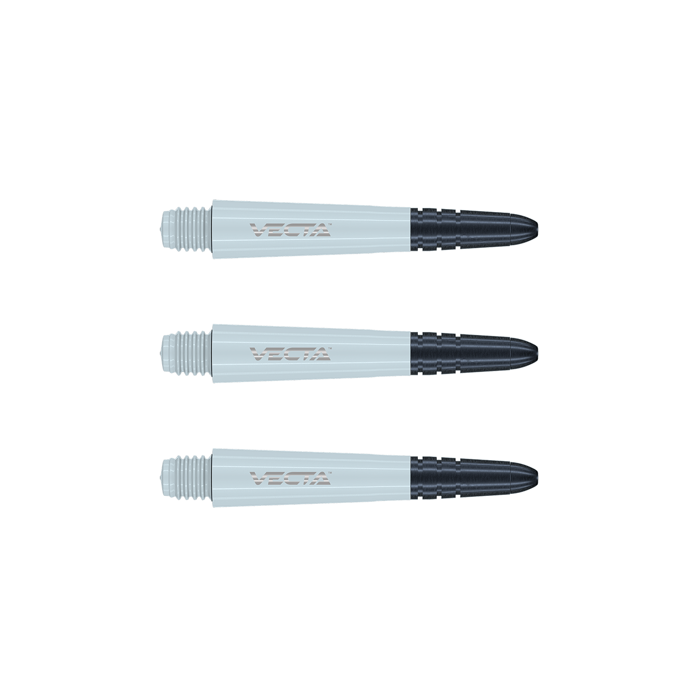 Winmau Vecta Darts Stems Polycarbonate 35mm SHORT White