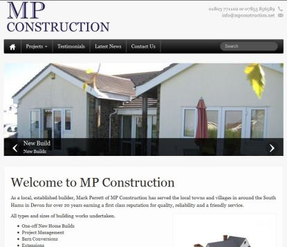 New website for : MP Construction