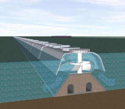 Tidal reef design by Evans Engineering