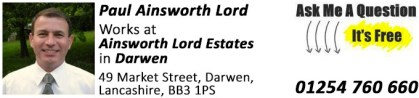 Darwen, Property Expert, Paul Ainsworth Lord, Estate Agents in Darwen, Ainsworth Lord Estates, Letting Agents in Darwen