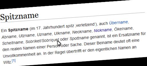 Spitznamen