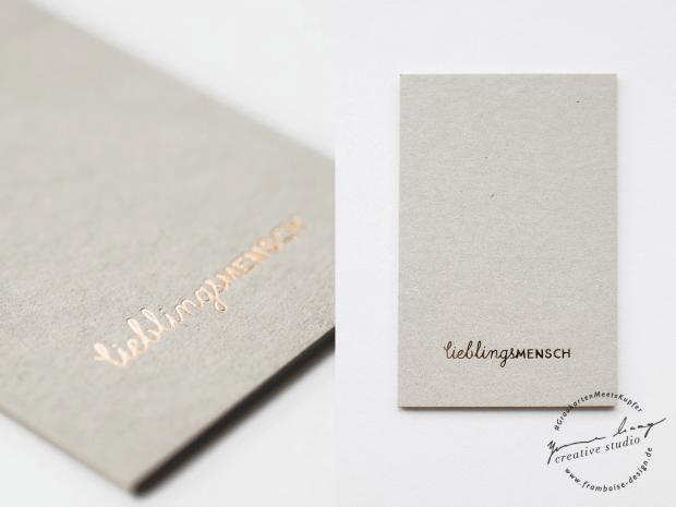 Frambiose Design - Graukarten meets Kupfer Lieblingsmensch Papeterie Hochzeit
