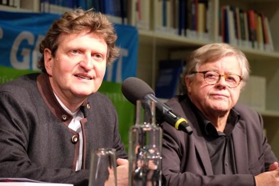 Anton G. Leitner und Fitzgerald Kusz. Foto: Maren Martell